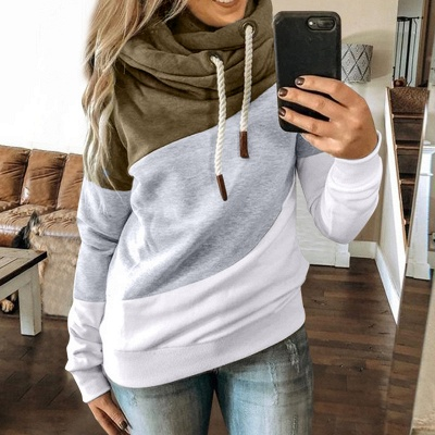 Multicolor Long Sleeve Hoodie Sweatshirt_10