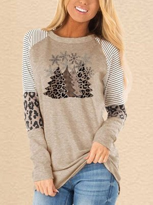 Leopard Christmas Long Sleeve T-Shirt