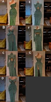 Glitter Off the Shoulder Slim Mermaid Prom Dress Sleeveless Mermaid Evening Gowns_1