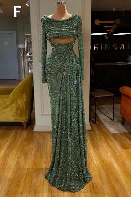 Glitter Off the Shoulder Slim Mermaid Prom Dress Sleeveless Mermaid Evening Gowns_7