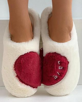 Heart Letter Pattern Fluffy Slippers_12