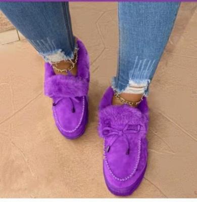 Fashion Daily Round Toe Fashion Warm Fur Flat boots On Sale On Sale_7