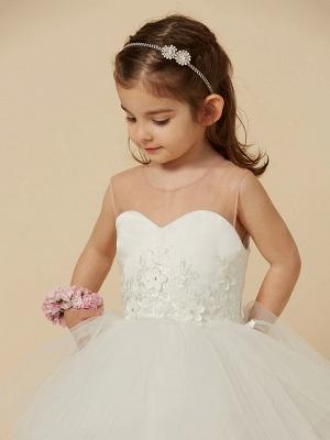 Lovely Jewel Tulle Lace Sleeveless Flower Girl Dress_6