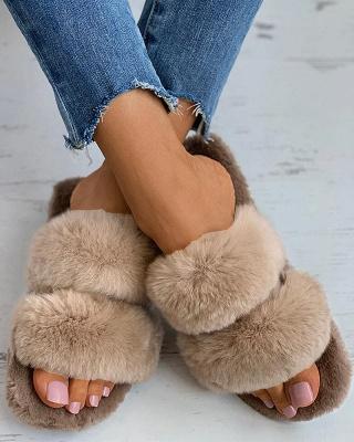 Fluffy Toe Post Casual Slipper_2