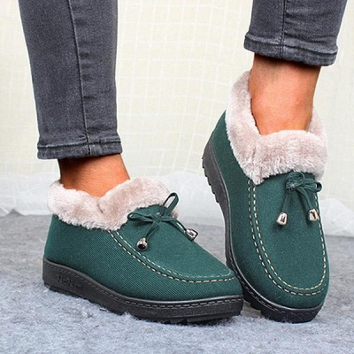 Cotton Shoes For Lady Winter Soft Soles Warm Shoes On Sale_3