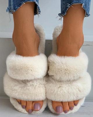 Fluffy Toe Post Casual Slipper_11