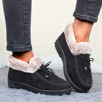 Cotton Shoes For Lady Winter Soft Soles Warm Shoes On Sale_2