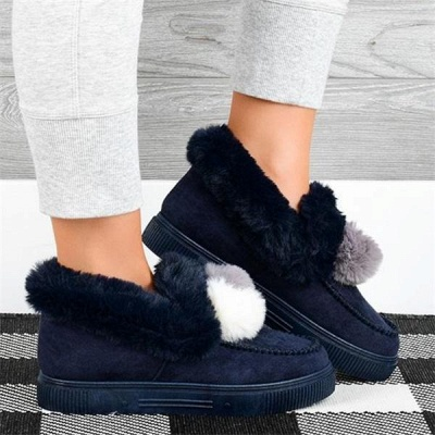 Fashion Wool Cotton Shoes Women Winter Warm Plus-Size Boots On Sale_3