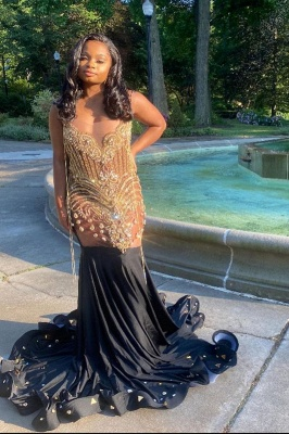 Sexy Beading Mermaid Evening Gowns_1