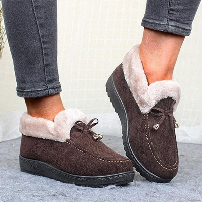 Cotton Shoes For Lady Winter Soft Soles Warm Shoes On Sale_4