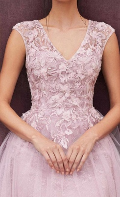 Cheap Lace Tulle Short Prom Dresses Sleeveless Open Back_3
