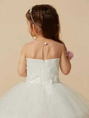 Lovely Jewel Tulle Lace Sleeveless Flower Girl Dress_7