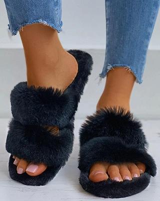 Fluffy Toe Post Casual Slipper_14