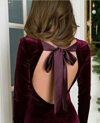 Cheap Floor Length Mermaid Backless Jewel Burgundy Prom Dresses_4