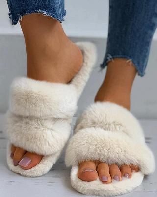 Fluffy Toe Post Casual Slipper_10