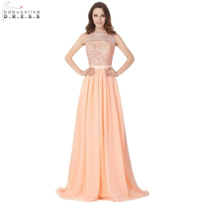 Cheap A-line Chiffon Tulle Lace Ruffles Bridesmaid Dress in Stock_6