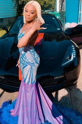 Spaghetti Slim Mermaid Long evening dress Sparkly Sleeveless Party Dress_3