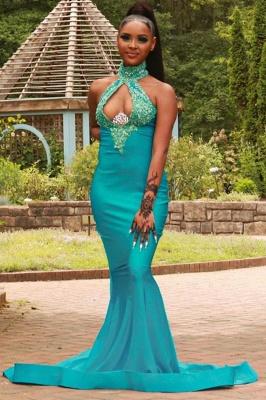 Halter Mermaid long Evening Dress party wear_1