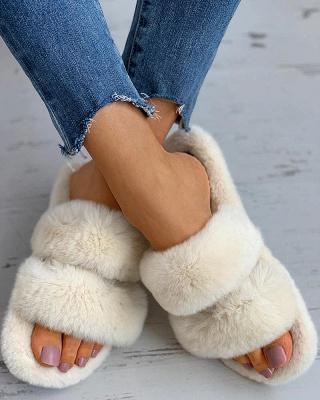Fluffy Toe Post Casual Slipper_1