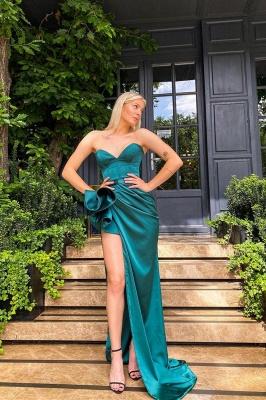 Sexy Sleeveless slim Split front Evening Dress_1