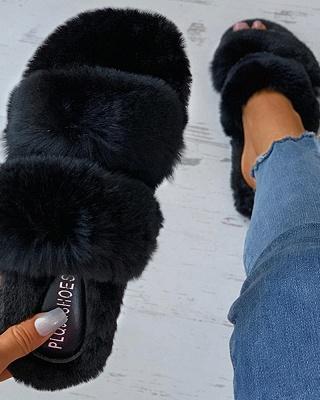 Fluffy Toe Post Casual Slipper_12