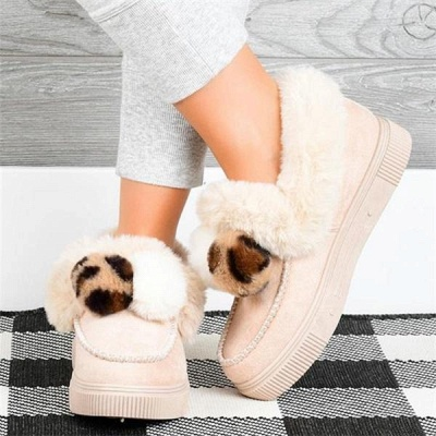 Fashion Wool Cotton Shoes Women Winter Warm Plus-Size Boots On Sale_5
