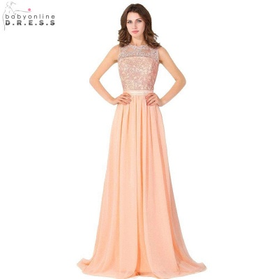 Cheap A-line Chiffon Tulle Lace Ruffles Bridesmaid Dress in Stock_7