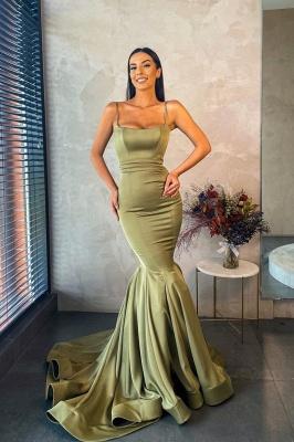 Slim Mermaid Prom Dress Charming  Spaghetti_1