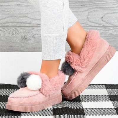 Fashion Wool Cotton Shoes Women Winter Warm Plus-Size Boots On Sale_7