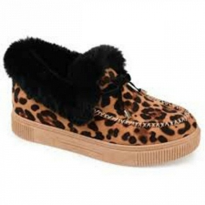 Fashion Daily Round Toe Fashion Warm Fur Flat boots On Sale On Sale_9