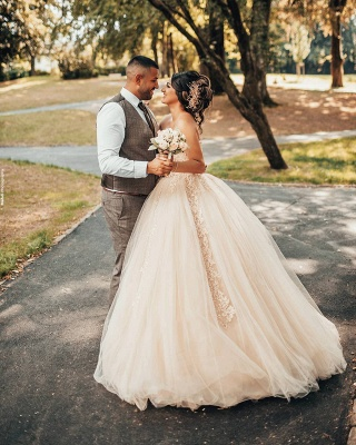 Wholesale Sweetheart Lace Tulle Ball Gowns Wedding Dresses_4
