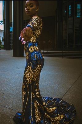 Mermaid Prom Dress Sexy Long Sleeve evening dressing_1