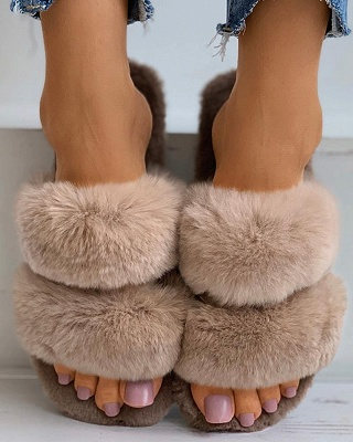 Fluffy Toe Post Casual Slipper_19