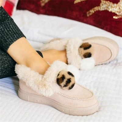 Fashion Wool Cotton Shoes Women Winter Warm Plus-Size Boots On Sale_14