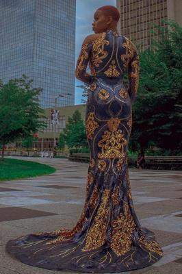 Mermaid Prom Dress Sexy Long Sleeve evening dressing_2