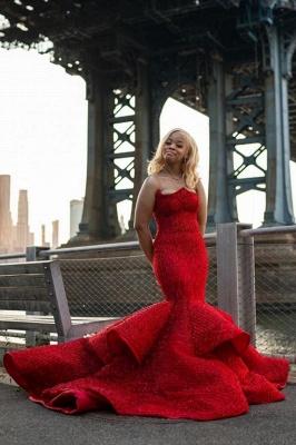 Sleeveless sweetheart Mermaid Evening Prom Dresses_2