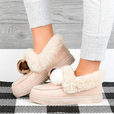 Fashion Wool Cotton Shoes Women Winter Warm Plus-Size Boots On Sale_1