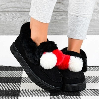 Fashion Wool Cotton Shoes Women Winter Warm Plus-Size Boots On Sale_4