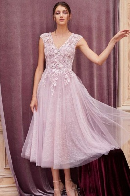 Cheap Lace Tulle Short Prom Dresses Sleeveless Open Back_1