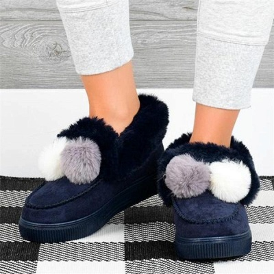 Fashion Wool Cotton Shoes Women Winter Warm Plus-Size Boots On Sale_11
