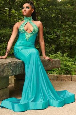 Halter Mermaid long Evening Dress party wear_3