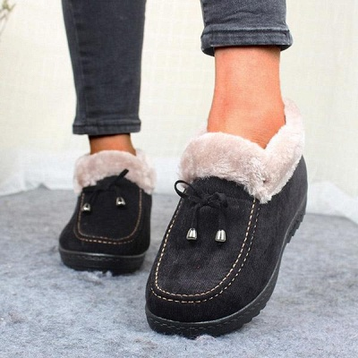 Cotton Shoes For Lady Winter Soft Soles Warm Shoes On Sale_8