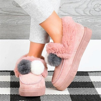 Fashion Wool Cotton Shoes Women Winter Warm Plus-Size Boots On Sale_2