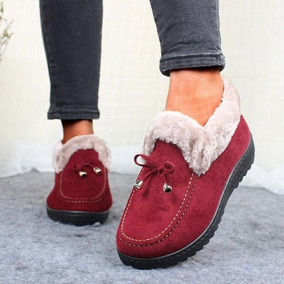 Cotton Shoes For Lady Winter Soft Soles Warm Shoes On Sale_5