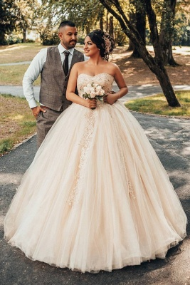 Wholesale Sweetheart Lace Tulle Ball Gowns Wedding Dresses_1