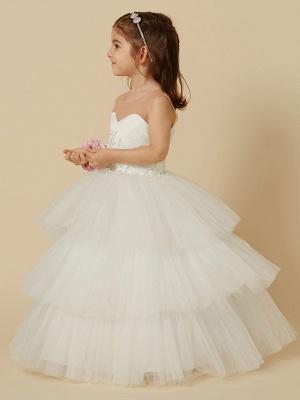 Lovely Jewel Tulle Lace Sleeveless Flower Girl Dress_3