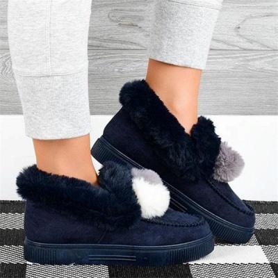 Fashion Wool Cotton Shoes Women Winter Warm Plus-Size Boots On Sale_3