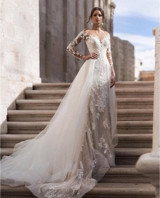 Sexy Long Sleeves Lace Wedding Dresses Online_1