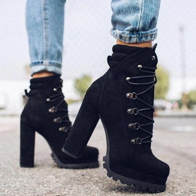 Fashion High Heel Boots Waterproof Platform Boots for Autumn/Winter 2021 On Sale_3