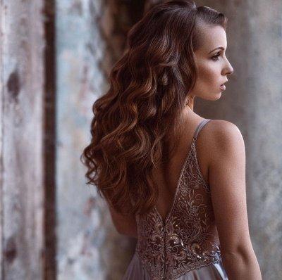 Sexy Spaghetti Straps V-Neck Satin Lace Prom Dress_3